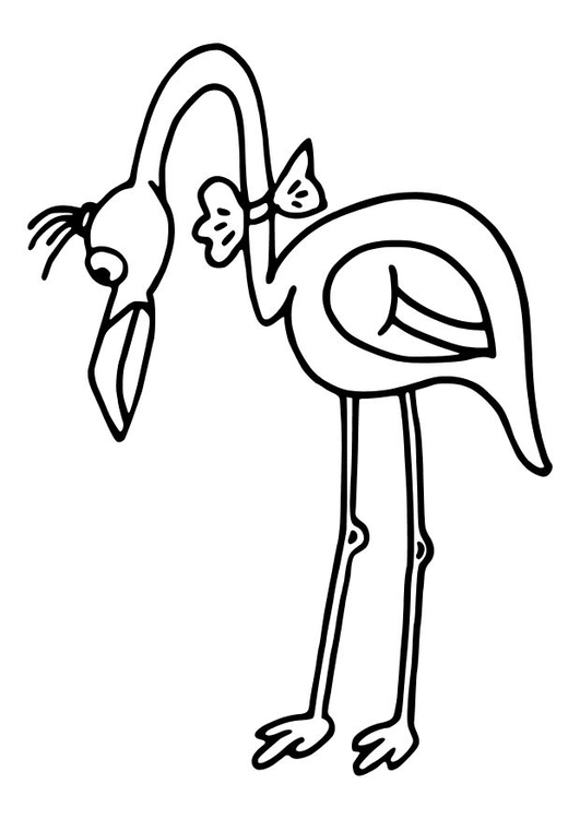 Coloring page flamingo