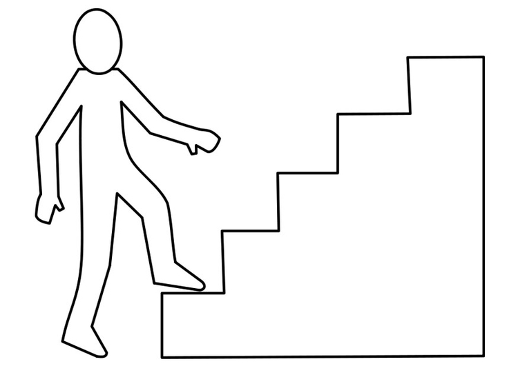 Coloring page flight of stairs