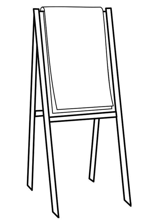 Coloring page flip chart