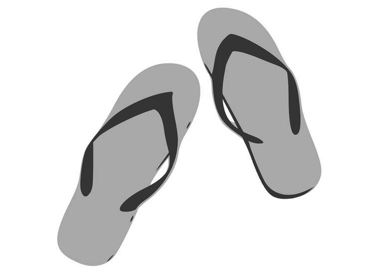 Coloring page flip-flops