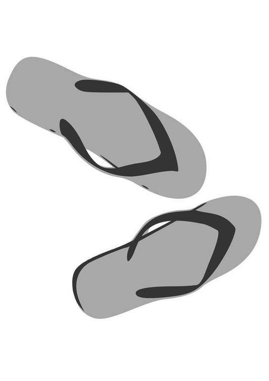 Coloring page flip-flops - img 19410.