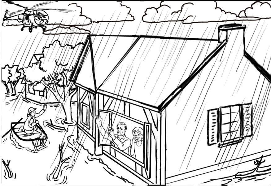 Coloring page flood img 12308 for Flood coloring pages