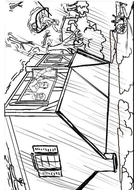 Coloring page flood - img 12308.