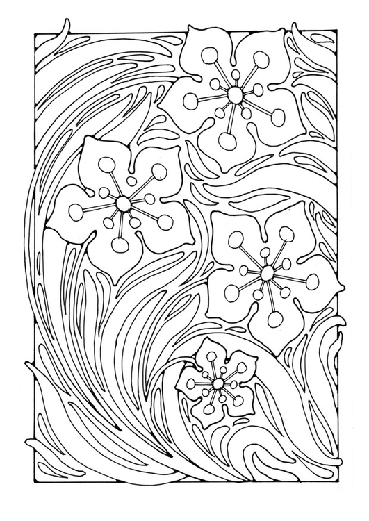 Coloring page floral pattern