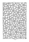Coloring pages floral pattern