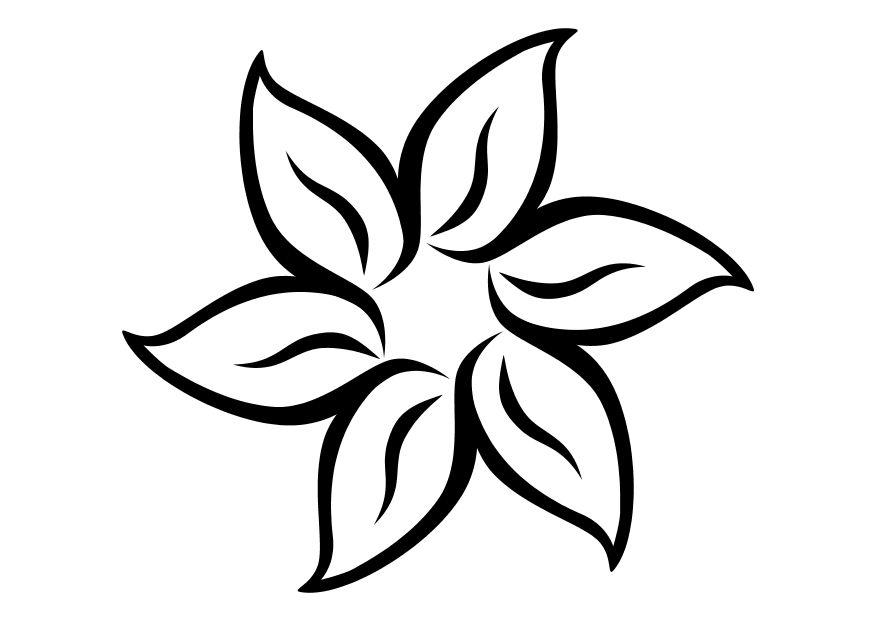 Coloring page flower - img 11710.