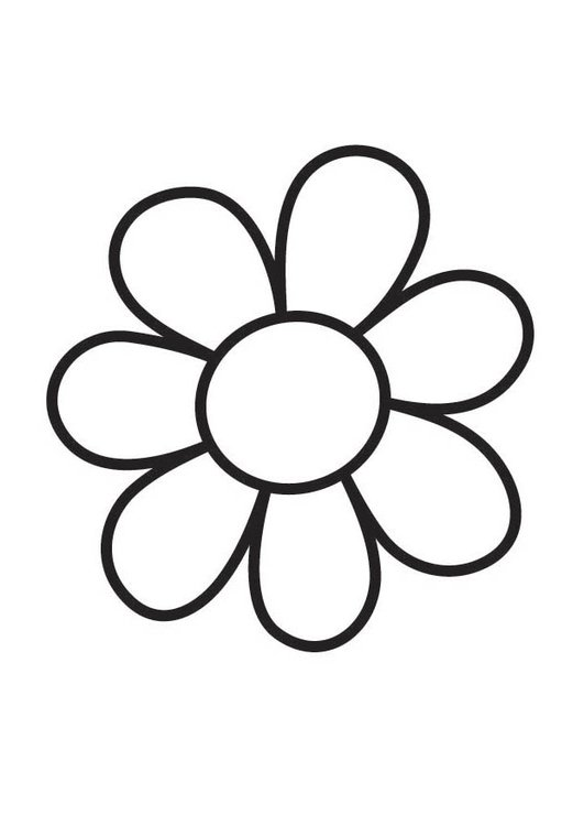 Coloring page Flower