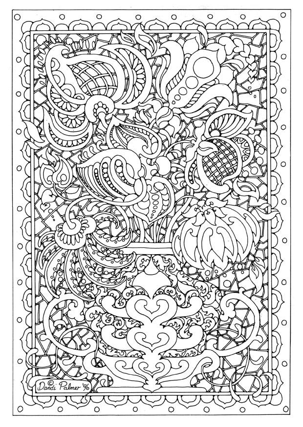 Coloring Page Flower Vase