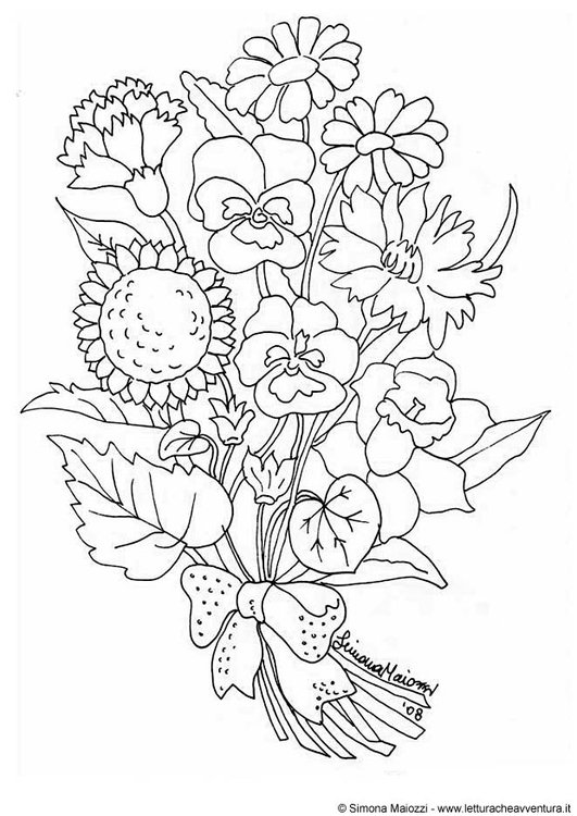 Coloring page flowers