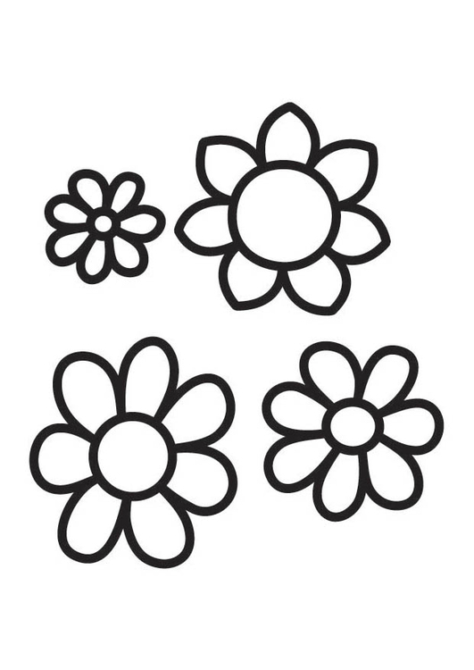Coloring Page Flowers Free Printable Coloring Pages