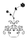 Coloring page flowers in vase