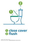 Coloring page flush the toilet