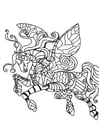 Coloring page flying horse