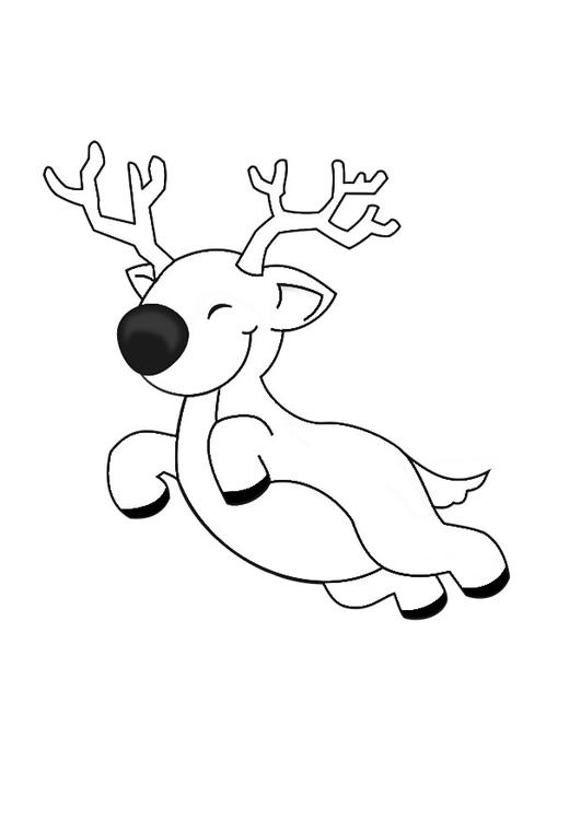 Coloring page flying reindeer img 29152 for Flying reindeer coloring pages
