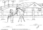 Coloring page foal