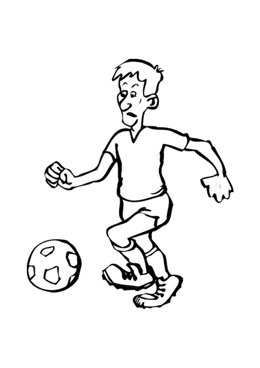 Coloring page football