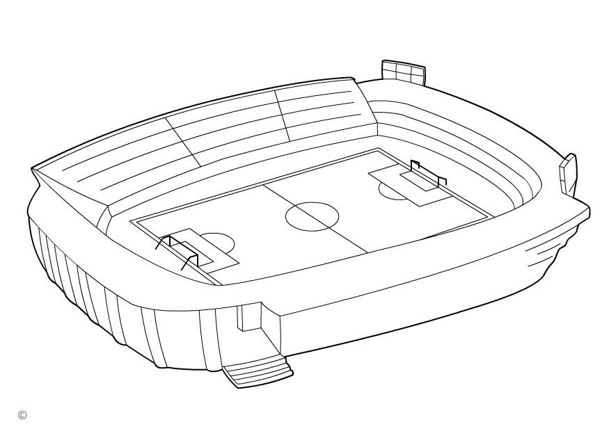 Coloring page football stadium - img 26143. Rolling Soccer Ball Picture