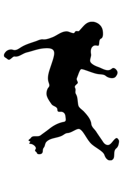 Coloring page footballer