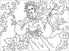 Coloring pages forest fairy