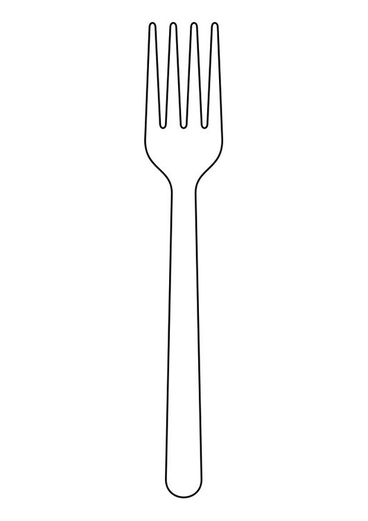 Coloring page fork