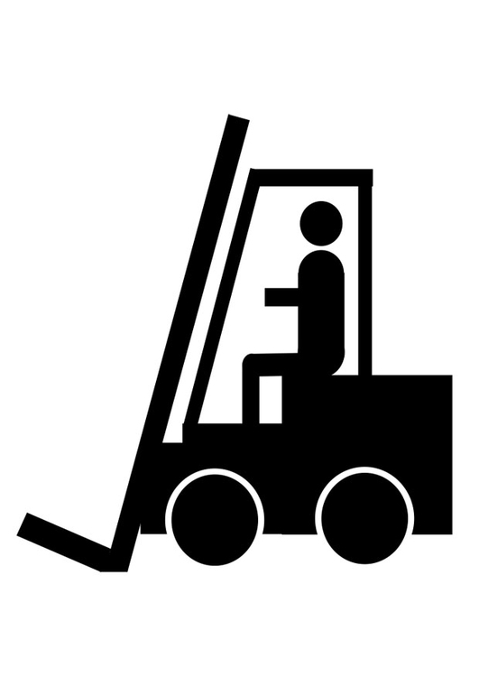 Coloring page forklift