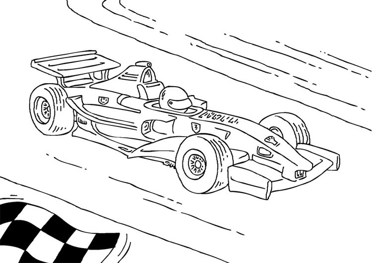 Coloring page Formula 1 race car
