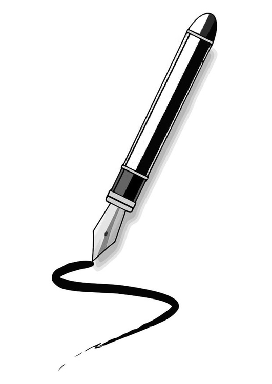 Coloring page fountain pen