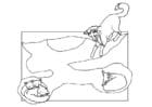 Coloring page fox den