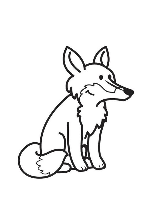 Coloring page Fox