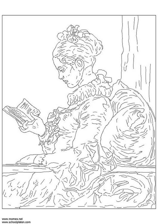 Coloring page Fragonard