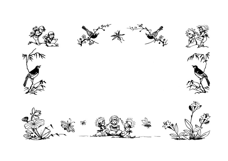 Coloring page frame - fairy tales