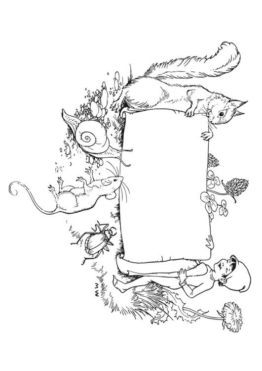 Kleurplaat Canimals Coloring Page Frame Forest Img 27925