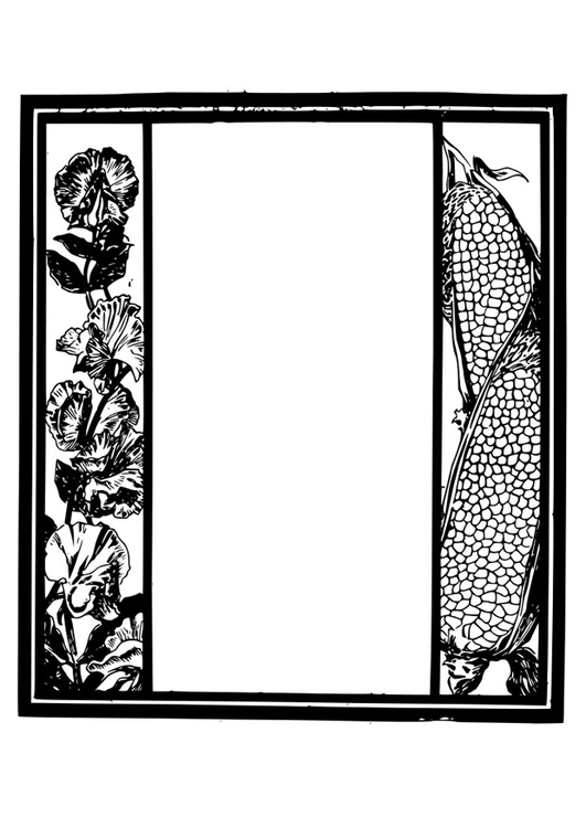 Coloring page frame - garden