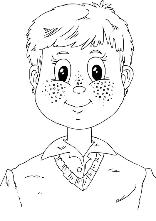 Coloring page freckles