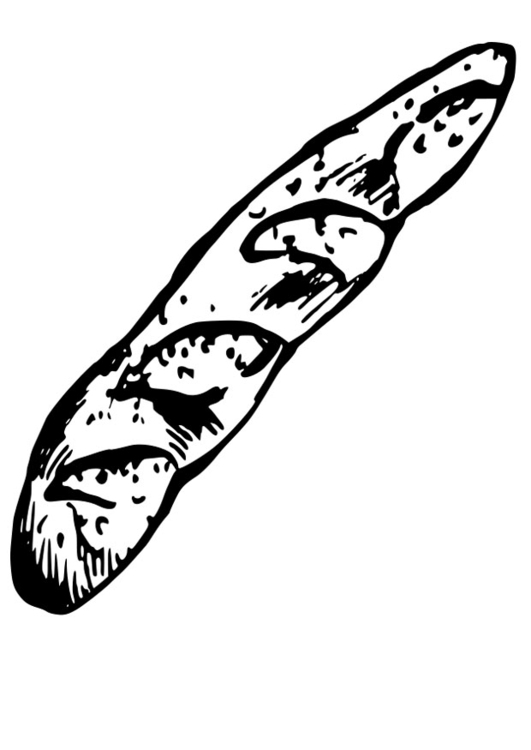 Coloring page french bread