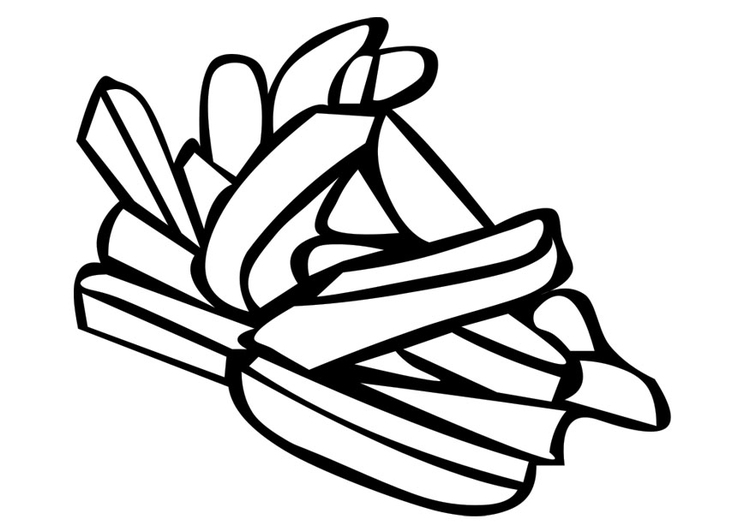 Coloring page french fries