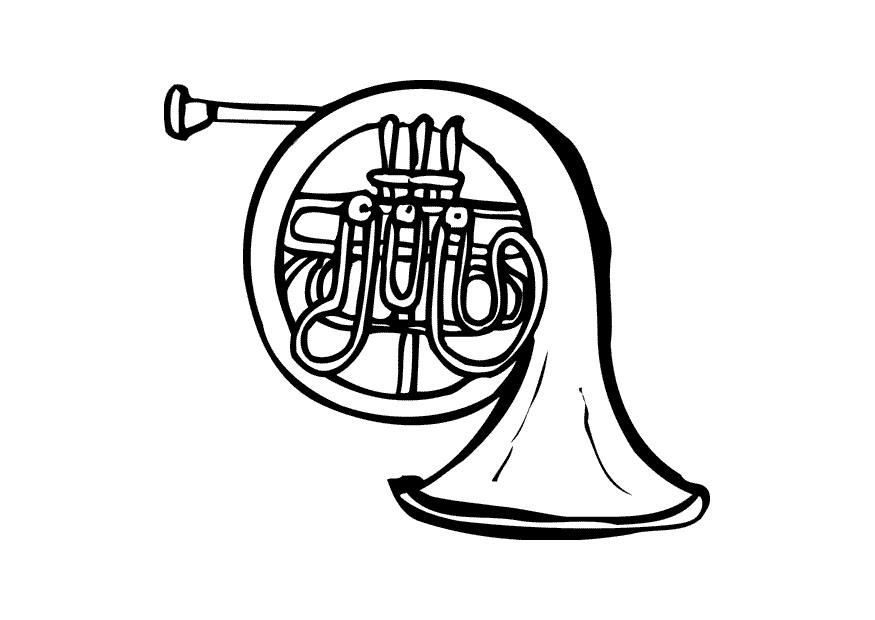 french horn coloring pages - photo#19
