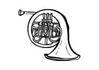 Coloring page french horn