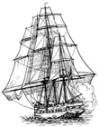 Coloring pages frigate