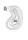 Coloring pages frog maze