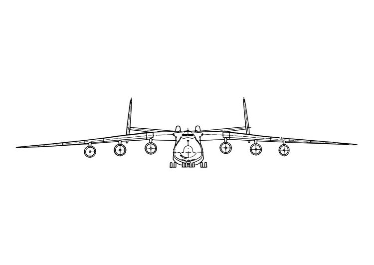 Coloring page front of aeroplane