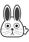 Coloring pages front of rabbit