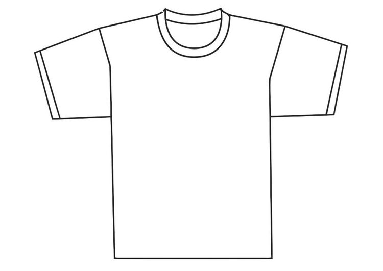 Coloring Page front of t-shirt - free printable coloring pages