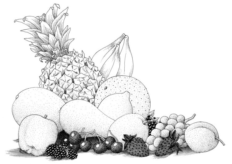 Coloring page fruit