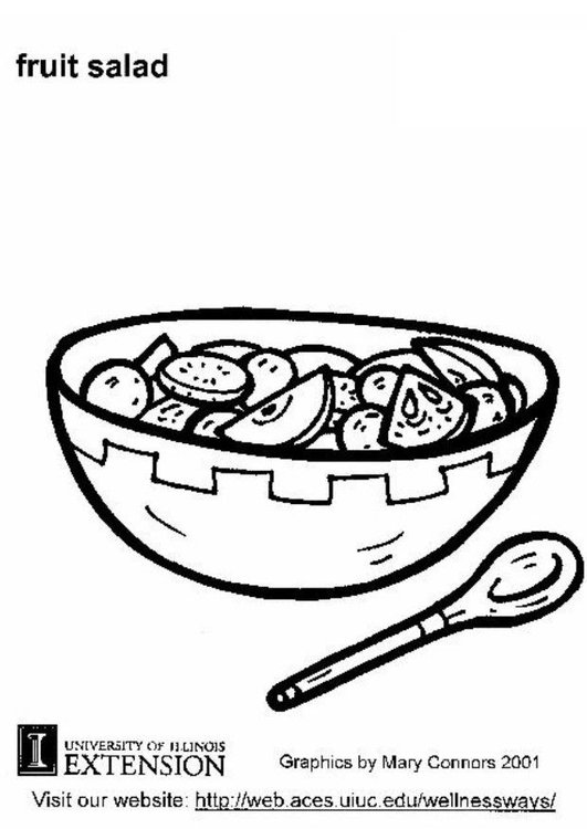 Coloring page fruit salad