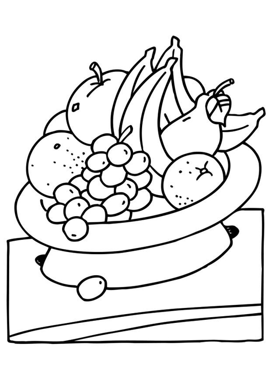 Coloring page fruits