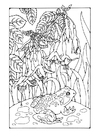Coloring pages fuchsia with frog