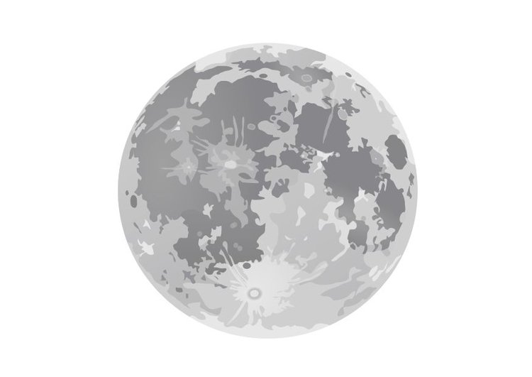 Coloring page full moon