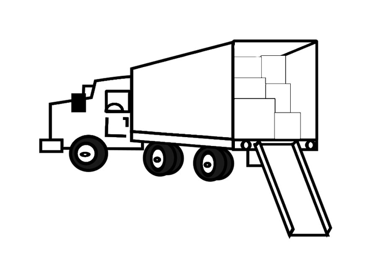 Coloring page full removal van
