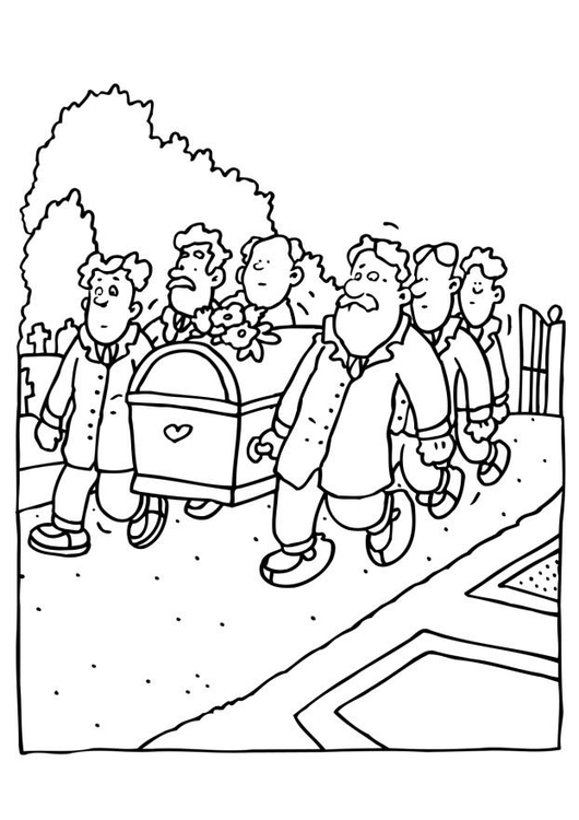 Coloring page funeral